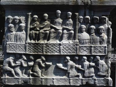 Theodosius Receiving Submission of Defeated Barbarians--Giclee Print