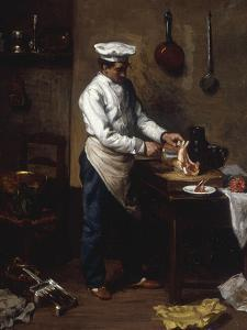 In the Kitchen by Theodule Ribot