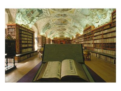 Theological library, Strahov Abbey, Prague, Central Bohemia, Czech Republic--Art Print
