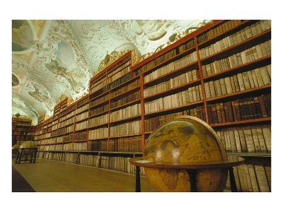 Theological library, Strahov Abbey, Prague, Central Bohemia, Czech Republic--Art Print