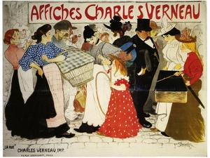 Affiches Charles Verneau-La Rue by Théophile Alexandre Steinlen