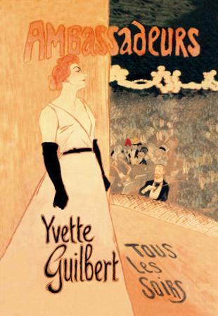 Ambassadeurs: Yvette Guilbert, Tous les Soirs, c.1894 by Théophile Alexandre Steinlen
