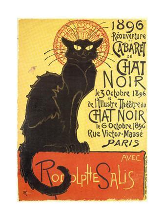 Cabaret Du Chat Noir-Black Cat Cabaret by Théophile Alexandre Steinlen