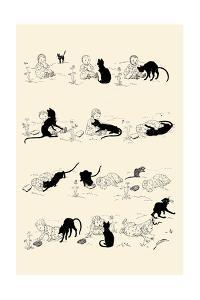 Cat and Baby by Théophile Alexandre Steinlen