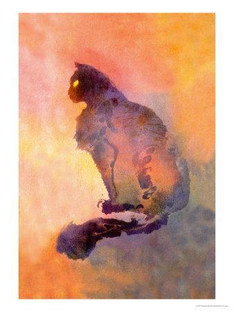 Chat Pourpre, c.1900