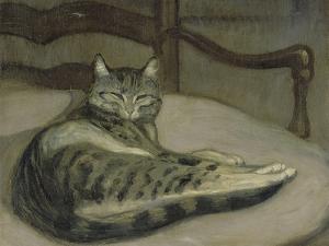 Chat sur un fauteuil by Théophile Alexandre Steinlen
