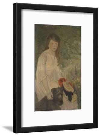 Colette sur fond de jardin (1888-1969), fille de l'artiste