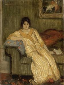 Femme assise dans un canapé by Théophile Alexandre Steinlen
