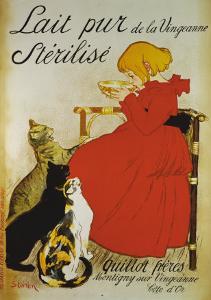 Lait pur sterilize by Théophile Alexandre Steinlen