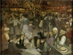 Le bal du 14 juillet by Théophile Alexandre Steinlen