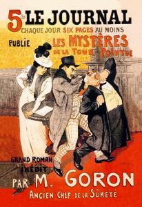 Le Journal: Les Mysteres de la Tour Pointue, c.1899 by Théophile Alexandre Steinlen