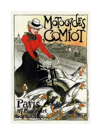 reproduction. poster Motorcycles comi French motor cycle advert wall art