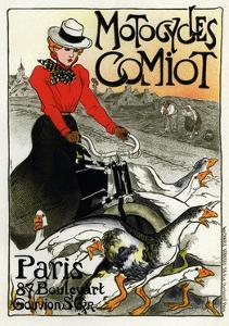 Motocycles Comiot, 1899 by Théophile Alexandre Steinlen
