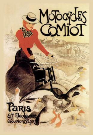 Motorcycles Comiot by Théophile Alexandre Steinlen