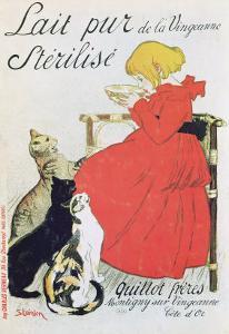 Poster Advertising Pure Sterilised Milk from La Vingeanne by Théophile Alexandre Steinlen