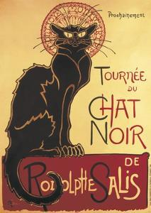 Poster for 'Chat Noir Cabaret' Founded by Rodolphe Salis by Théophile Alexandre Steinlen