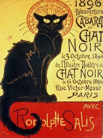 Reopening of the Chat Noir Cabaret, 1896 by Théophile Alexandre Steinlen