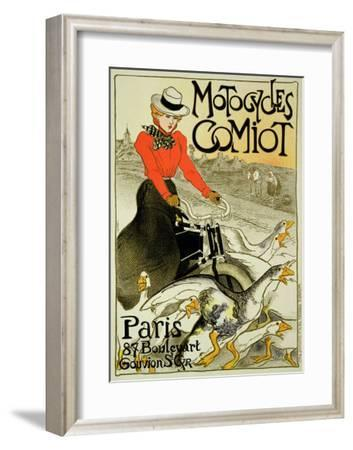 Reproduction of a Poster Advertising Comiot Motorcycles, 1899
