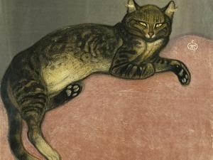 Summer, Cat on a Railing by Théophile Alexandre Steinlen