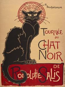 Tournée du Chat Noir de Rodolphe Salis (1. Fassung). Frankreich 1896, Charles Vernaux, Paris by Théophile-Alexandre Steinlen