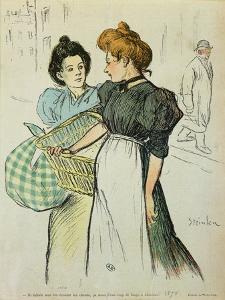 Two Washerwomen, 1898 by Théophile Alexandre Steinlen