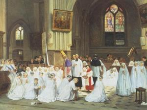 Confirmation at Villiers le Bel by Theophile E. Duverger