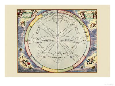 Theoria Trium Superiorum Planetarum-Andreas Cellarius-Art Print