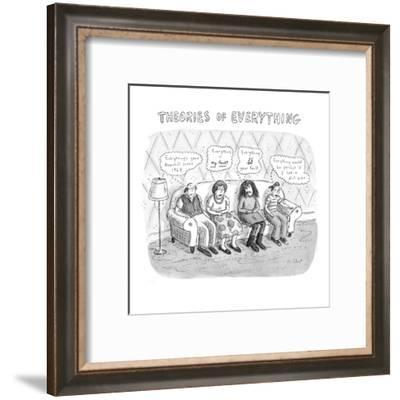Theories Of Everything - New Yorker Cartoon-Roz Chast-Framed Premium Giclee Print