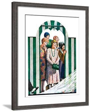 """""""There Goes the Bride,""""October 12, 1929-Alan Foster-Framed Giclee Print"""