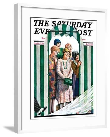 """There Goes the Bride,"" Saturday Evening Post Cover, October 12, 1929-Alan Foster-Framed Giclee Print"