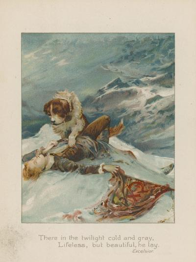 There in the Twilight Cold and Gray, Lifeless, But Beautiful, He Lay-Henry Marriott Paget-Giclee Print
