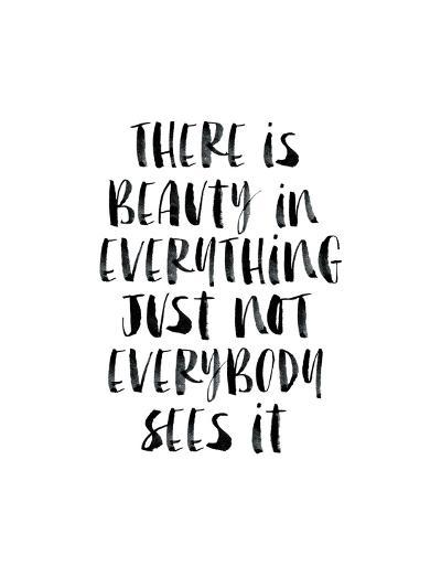 There Is Beauty In Everything Watercolor-Brett Wilson-Art Print