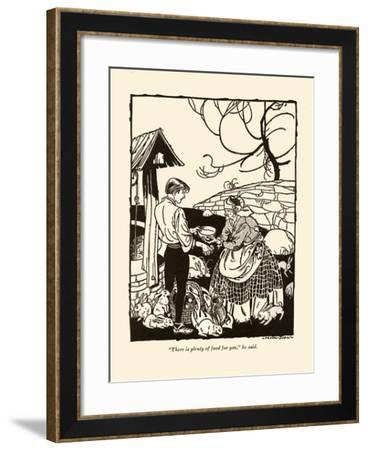 There Is Plenty Of Food For You-Frank Dobias-Framed Art Print