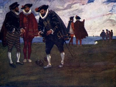 There Is Time to Finish the Game and Beat the Spaniards Too, Said Drake, 1588-AS Forrest-Giclee Print