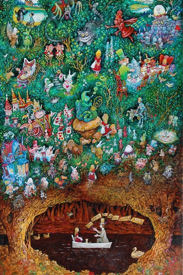 There Once Was a Girl Named Alice-Bill Bell-Giclee Print