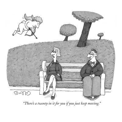 """""""There's a twenty in it for you if you just keep moving."""" - New Yorker Cartoon-J.C. Duffy-Premium Giclee Print"""