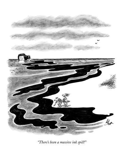 """""""There's been a massive ink spill!"""" - New Yorker Cartoon-Frank Cotham-Premium Giclee Print"""