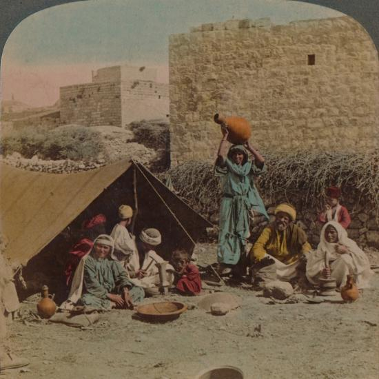 There's no place like home! - dwelling and shop of a Gypsy Blacksmith, Syria, 1900-Elmer Underwood-Photographic Print