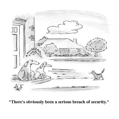 """""""There's obviously been a serious breach of security."""" - Cartoon-Frank Cotham-Premium Giclee Print"""