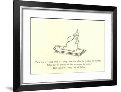 There Was a Young Lady of Turkey, Who Wept When the Weather Was Murky-Edward Lear-Framed Giclee Print