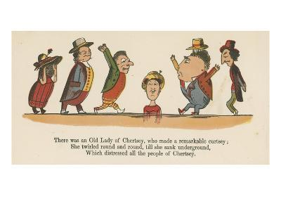 There Was an Old Lady of Chertsey, Who Made a Remarkable Curtsey-Edward Lear-Giclee Print