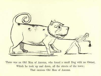There Was an Old Man of Ancona, Who Found a Small Dog with No Owner-Edward Lear-Giclee Print