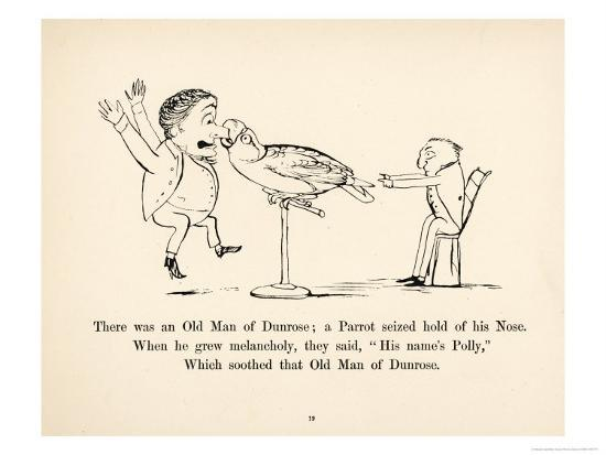There was an Old Man of Dunrose-Edward Lear-Giclee Print
