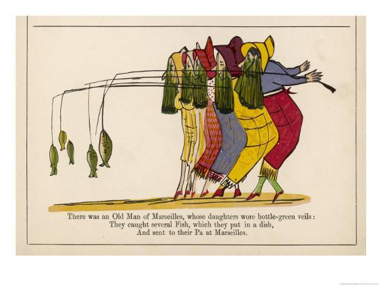 There was an Old Man of Marseilles-Edward Lear-Giclee Print