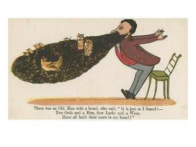 There Was an Old Man with a Beard, Who Said, 'It Is Just as I Feared!'-Edward Lear-Giclee Print