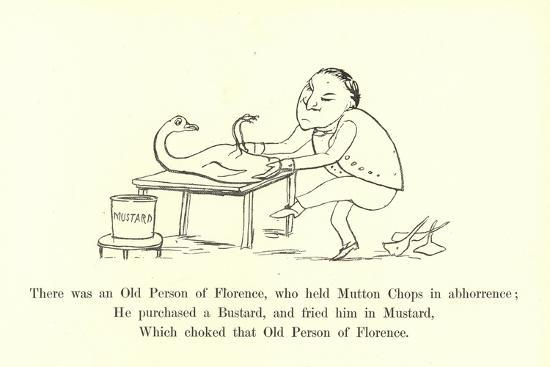 There Was an Old Person of Florence, Who Held Mutton Chops in Abhorrence-Edward Lear-Giclee Print