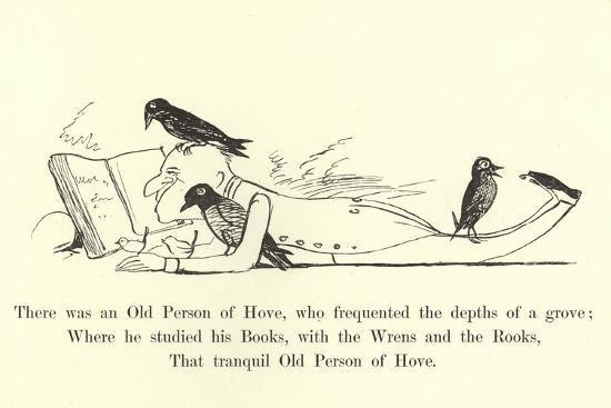 There Was an Old Person of Hove, Who Frequented the Depths of a Grove-Edward Lear-Giclee Print