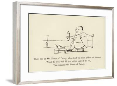 There Was an Old Person of Putney, Whose Food Was Roast Spiders and Chutney-Edward Lear-Framed Giclee Print