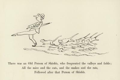 There Was an Old Person of Shields, Who Frequented the Valleys and Fields-Edward Lear-Giclee Print