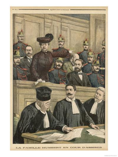 Therese Humbert on Trial--Giclee Print
